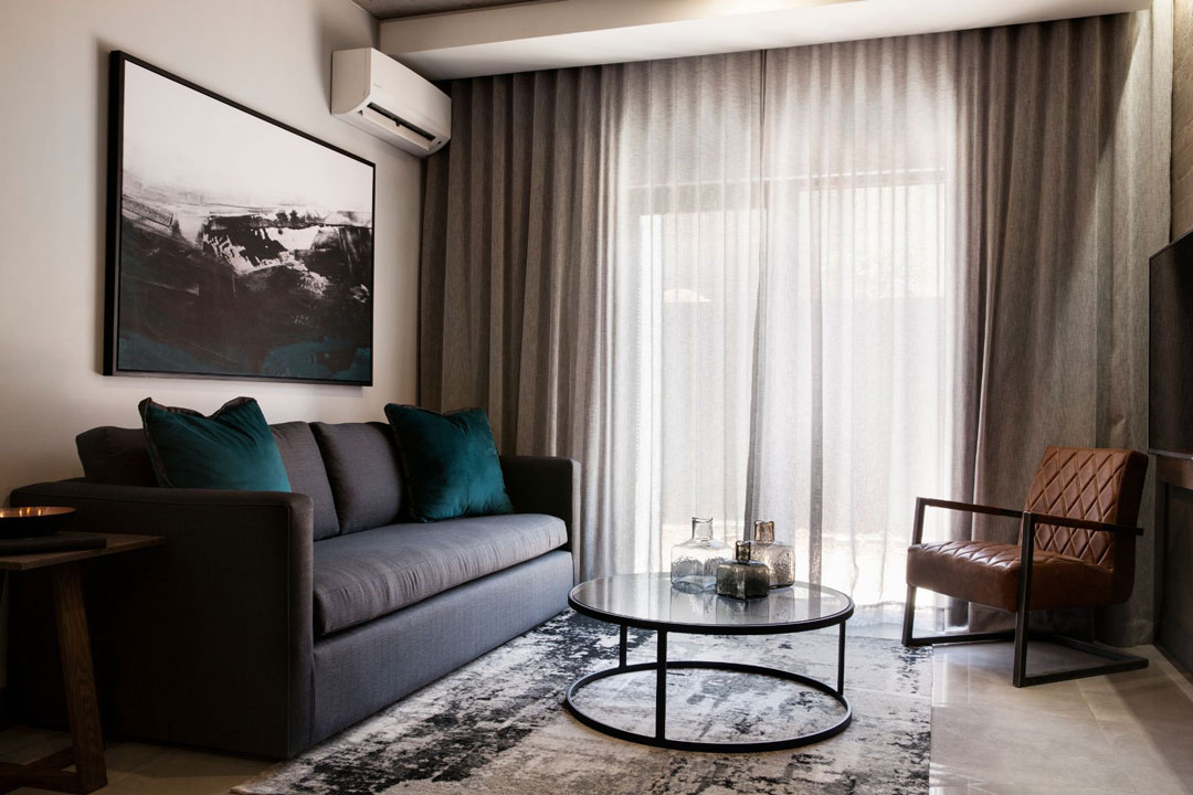 The Capital Melrose Apartment One Bedroom Lounge DESKTOP - The Capital Hotels & Apartments 26